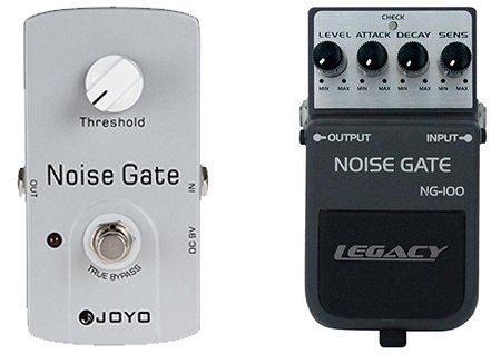 simple versus complex noise gate pedals