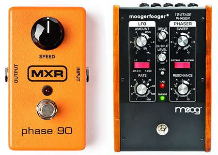 simple versus complex phaser pedals