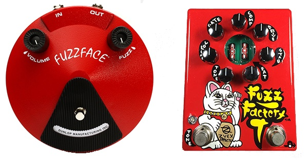 simple vs complex fuzz pedal - the fuzzface and fuzz factory, two of the best fuzz pedals available