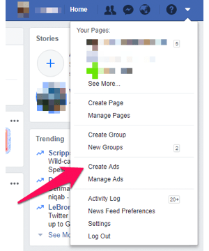 Manage Ads on Facebook