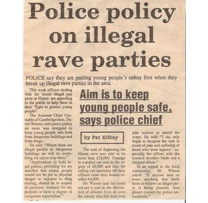 police policy on illegal rave parties