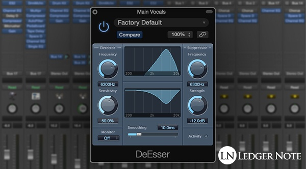 Use a de-esser to reduce sibilance in vocal recordings