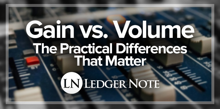 gain vs volume