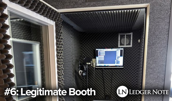 homemade sound booth