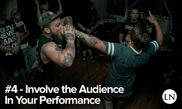 stage presence tip 4 - involve the audience in your performance