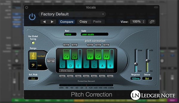 vocal mixing tips 3 - apply pitch correction