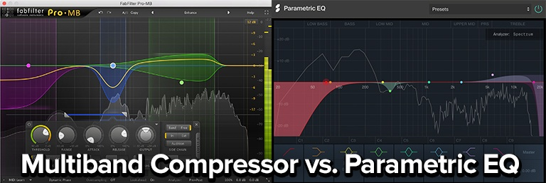multiband compression vs parametric equalization