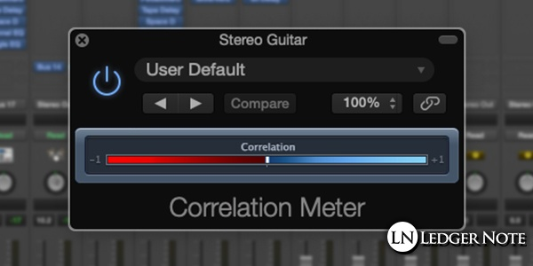 phase correlation meter while mixing in mono