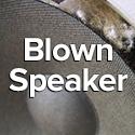 blown out speaker