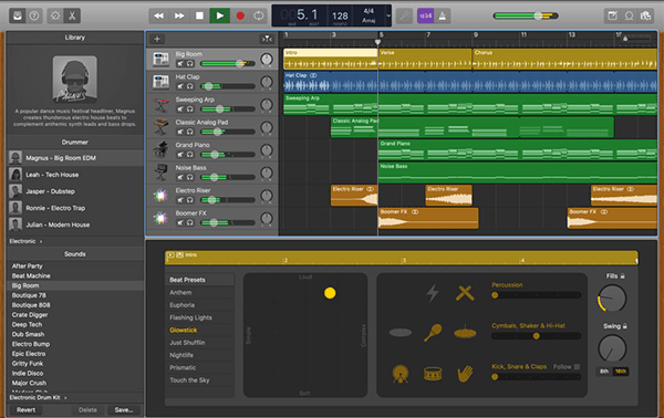 Garageband for Mac is like a free version of Logic Pro, a professional audio editing software