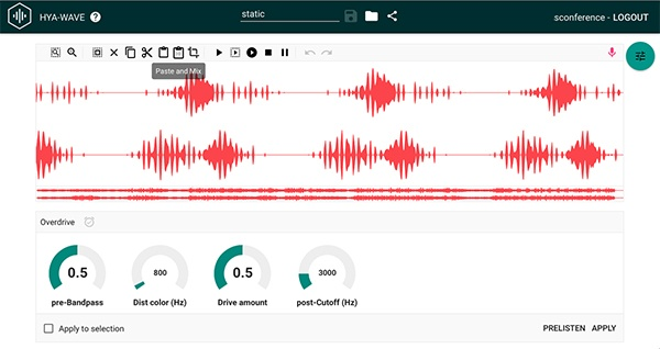 Hya-Wave is a modern browser-based free audio editing software for simple tasks