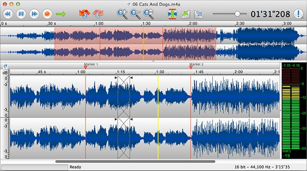 TwistedWave is the best free audio editing software especially if you need to edit metadata