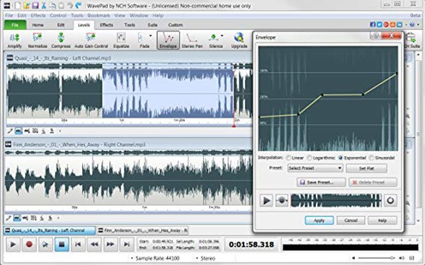 WavePad is a powerful free audio editor that keeps the design and interface simple but offers powerful capabilities in a desktop software