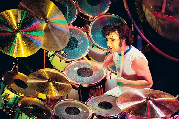 Keith Moon has an amazing talent at playing the drums
