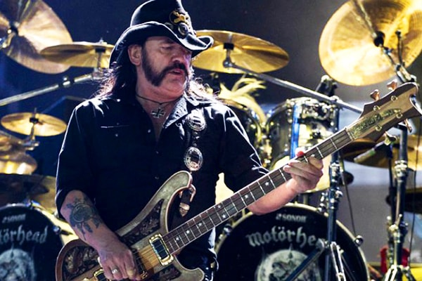 Lemmy is one of the most famous bassists ever due to his skill on the instrument and his personality and outfits
