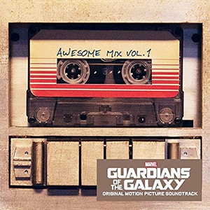 The Guardians of the Galaxy movie soundtrack is a juxtaposition of older classic songs among a futuristic science fiction backdrop