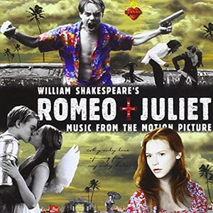 The Romeo + Juliet movie soundtrack contains a lot of rock and punk genre songs that were perfect for the era that the movie was released in