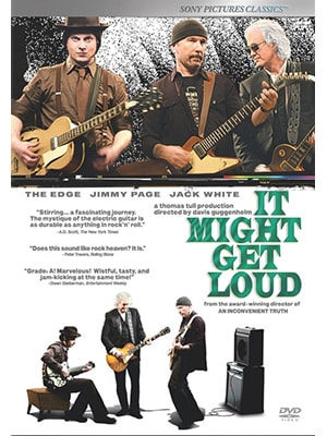 It Might Get Loud is a great music documentary by The Edge, Jimmy Page, and Jack White, ho are all three guitarists