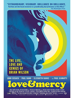 Love & Mercy is about the Beach Boys member Brian Wilson and is one of the most touching music movies ever filmed