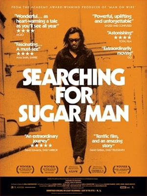 Searching for Sugar Man is about a musician that became a big deal in an African country but gained no success in the USA