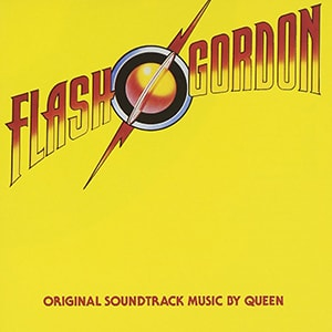 The Flash Gordon movie score was written and performed by Queen, the rock band who also worked on the Highlander score.