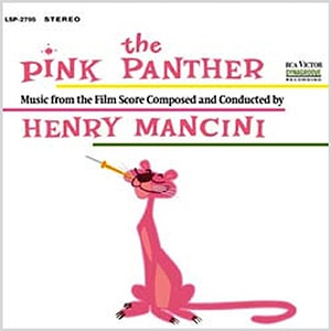 The Pink Panther score by Henry Mancini is one of the best movie scores of all time. It's main theme is easily one of the most recognizable songs ever.