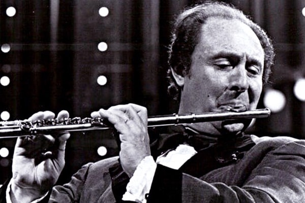 Jean-Pierre Rampal is another French flute player, having the benefit of having a father that was a flute teacher.
